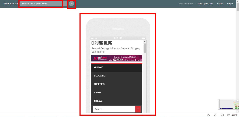 cara melihat tampilan versi mobile blog dari komputer