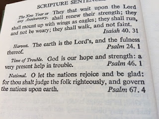 Excerpt from Book of Common Prayer