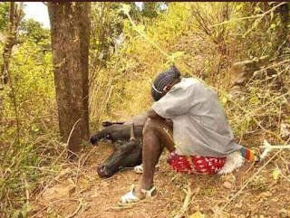 Maasai crying on the loss.