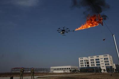 Drons amb llançaflames a la Xina