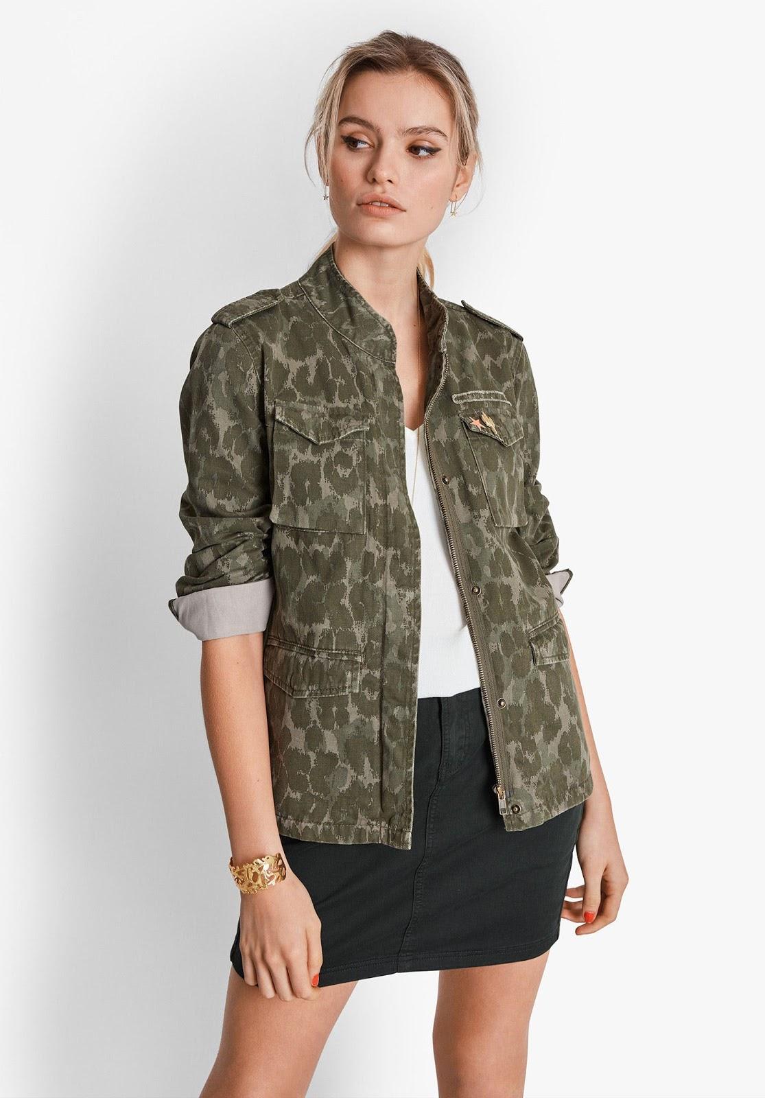 Hush camo military jacket