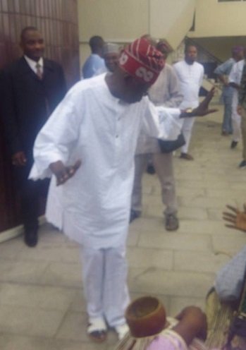 Eid-el-Kabir: Watch Video Of Tinubu Dancing Like Never Before At His Lagos Home With Prof Pat Utomi, Others Yesterday