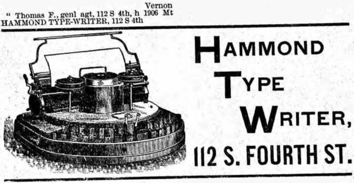 oz.Typewriter: Mad, Bad & Sad: James Bartlett Hammond's
