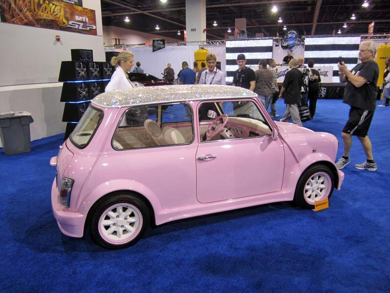 Mini Cooper Usa >> Girliest MINI ever from the West Coast Customs booth at ...