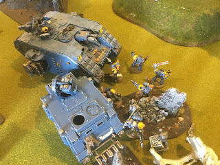 40k SW vs GSC Wolves claim Objective 1