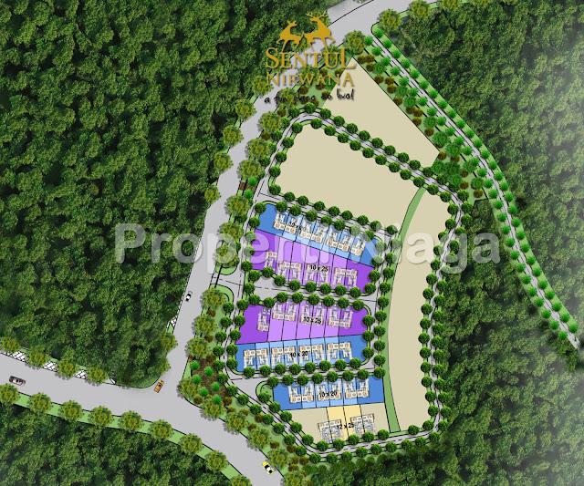 Denah-Site-plan-Rumah-Residential-Tipe-Hillside-Residence