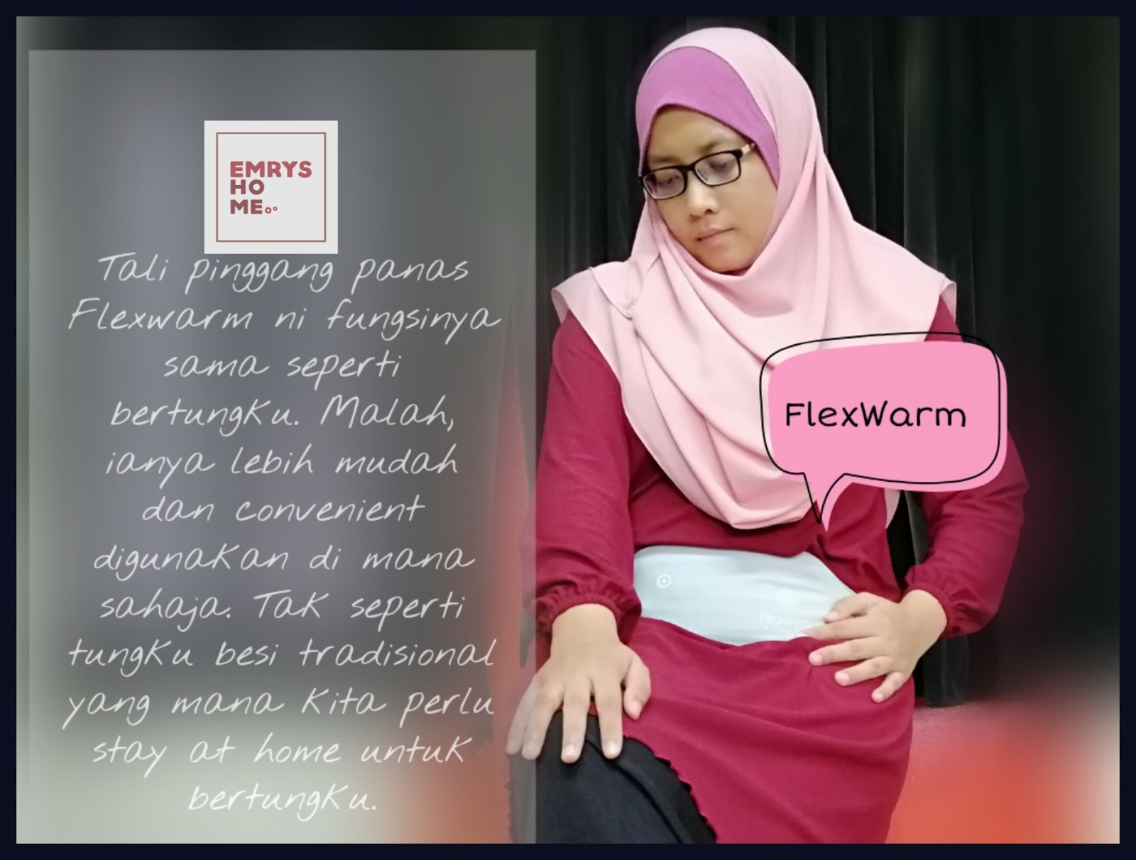 Cara Atasi Senggugut, awas senggugut, dysmenorrhea, dismenoria, abdominal cramp, sakit perut datang haid, petua kurangkan senggugut, bertungku senggugut, EmrysHome & Flexwarm Menstrual Pain Relief Heat Belt;  EmrysHome & Flexwarm Therapy Menstrual Cramp Warming Belt