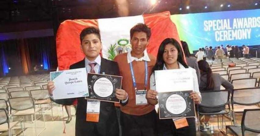 Escolares peruanos destacan en Feria Internacional de Ciencia e Ingeniería de Intel (ISEF) en Estados Unidos
