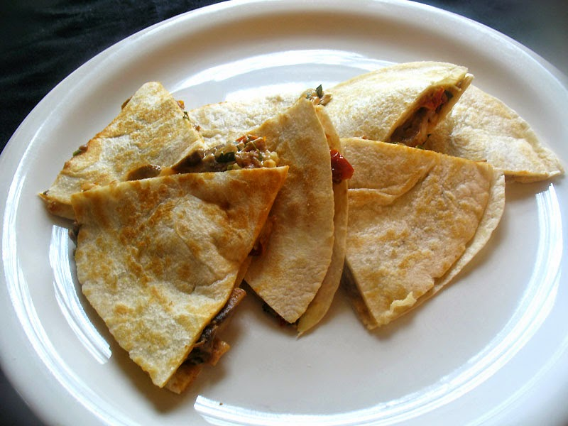 Mushroom and Goat Cheese Quesadillas with Sun-Dried ...