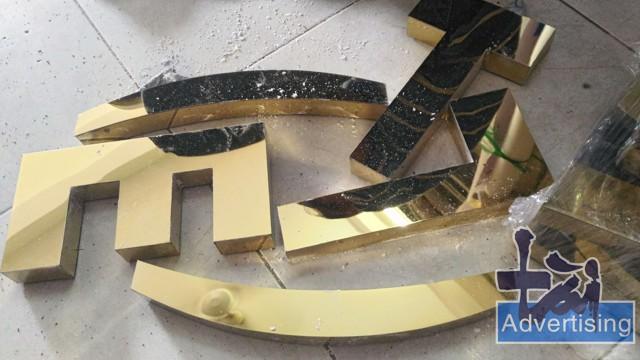 Làm chữ inox vàng 304