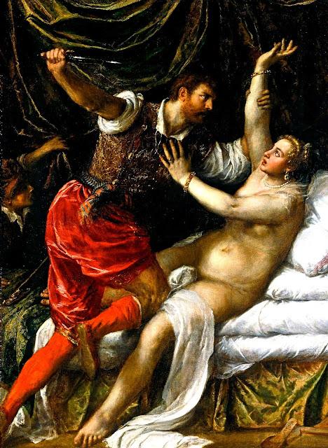 Tiziano Vecellio - Tarquinio e Lucrezia - erotismo - dipinti - sex paintings