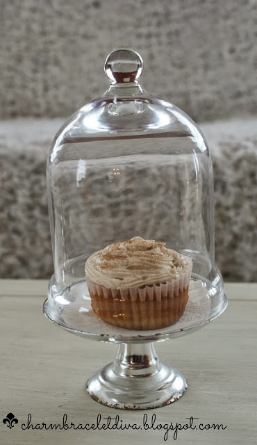 churro cupcake in cloche charm bracelet diva at home
