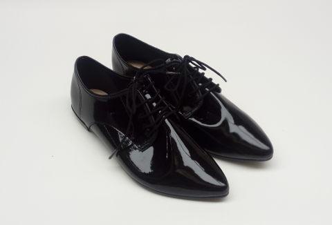 Sapato Oxford Preto Verniz Moleca