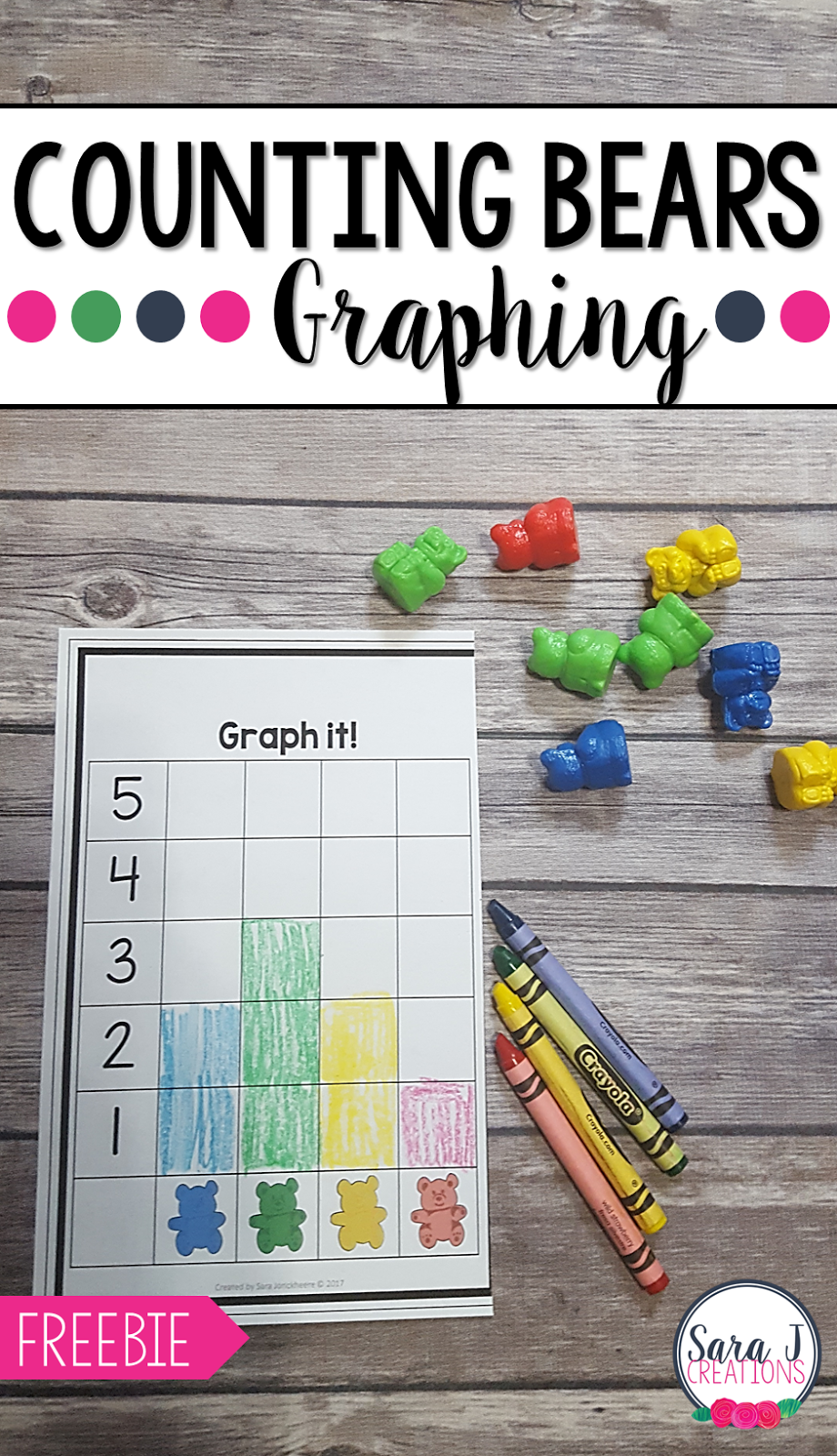 Counting Bear Graphing is a great introduction to counting activity and it is FREE. It is perfect for preschool and kindergarten.