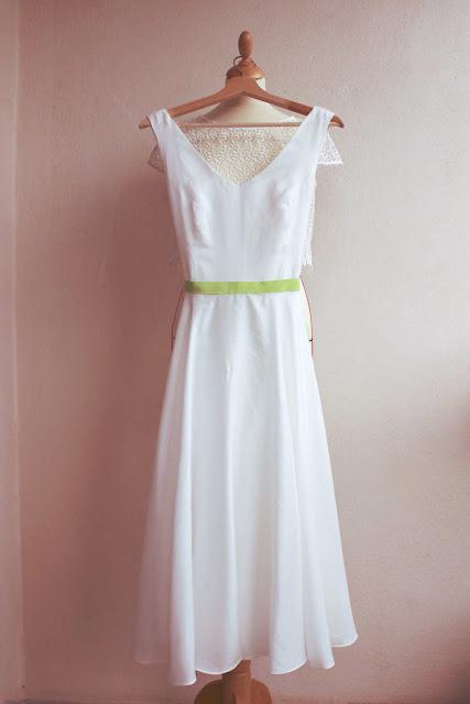 robe de mariée en soie coton par couturière sur mesure à Versailles 78