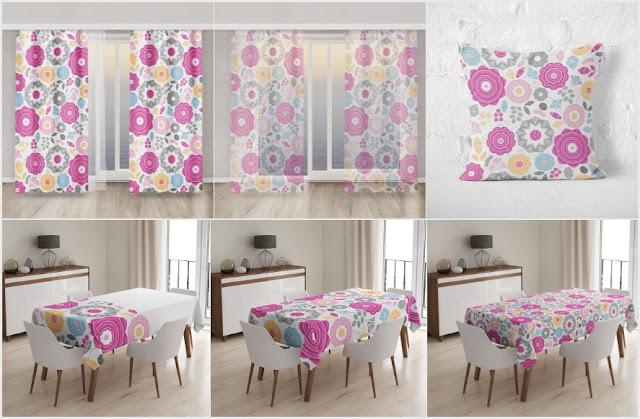 tekstylialand, gotowe drukowane tekstylia, wiosenne materiały, wiosenne tekstylia,