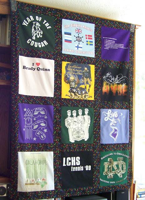 Graduate's Memory T Shirt Quilt