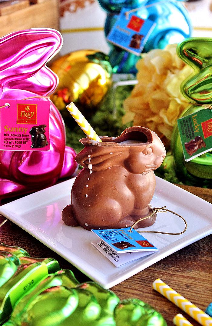 Chocolate Bunny Cocktail- #Introducing ChocolatFreyNA the #1 selling chocolate brand in Switzerland, authentic Swiss premium chocolates now sold state-side. AD