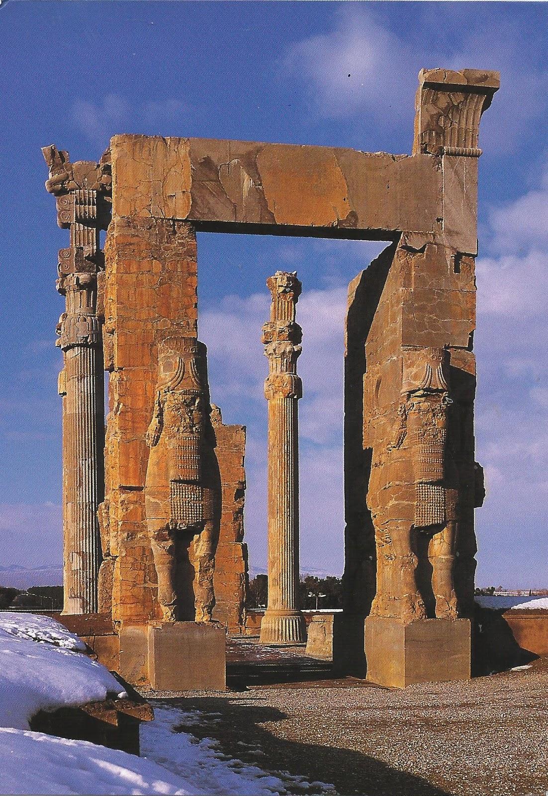 A Journey Of Postcards Persepolis Iran