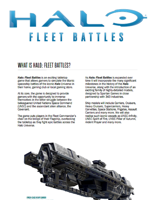 Wargame News and Terrain: Spartan Games: Halo: Fleet Battles
