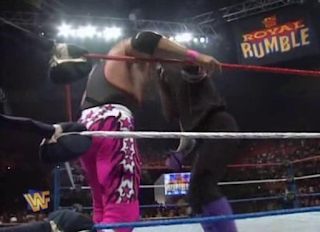 WWF / WWE Royal Rumble 1996: The Undertaker challenged Bret Hart for the WWF Championship