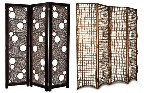pictures of rattan-house-interior-lamp-material-partitions
