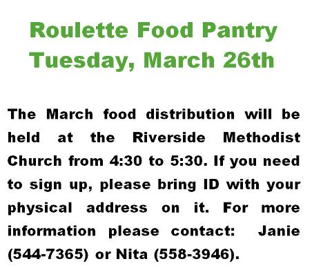 3-26 Roulette Food Pantry