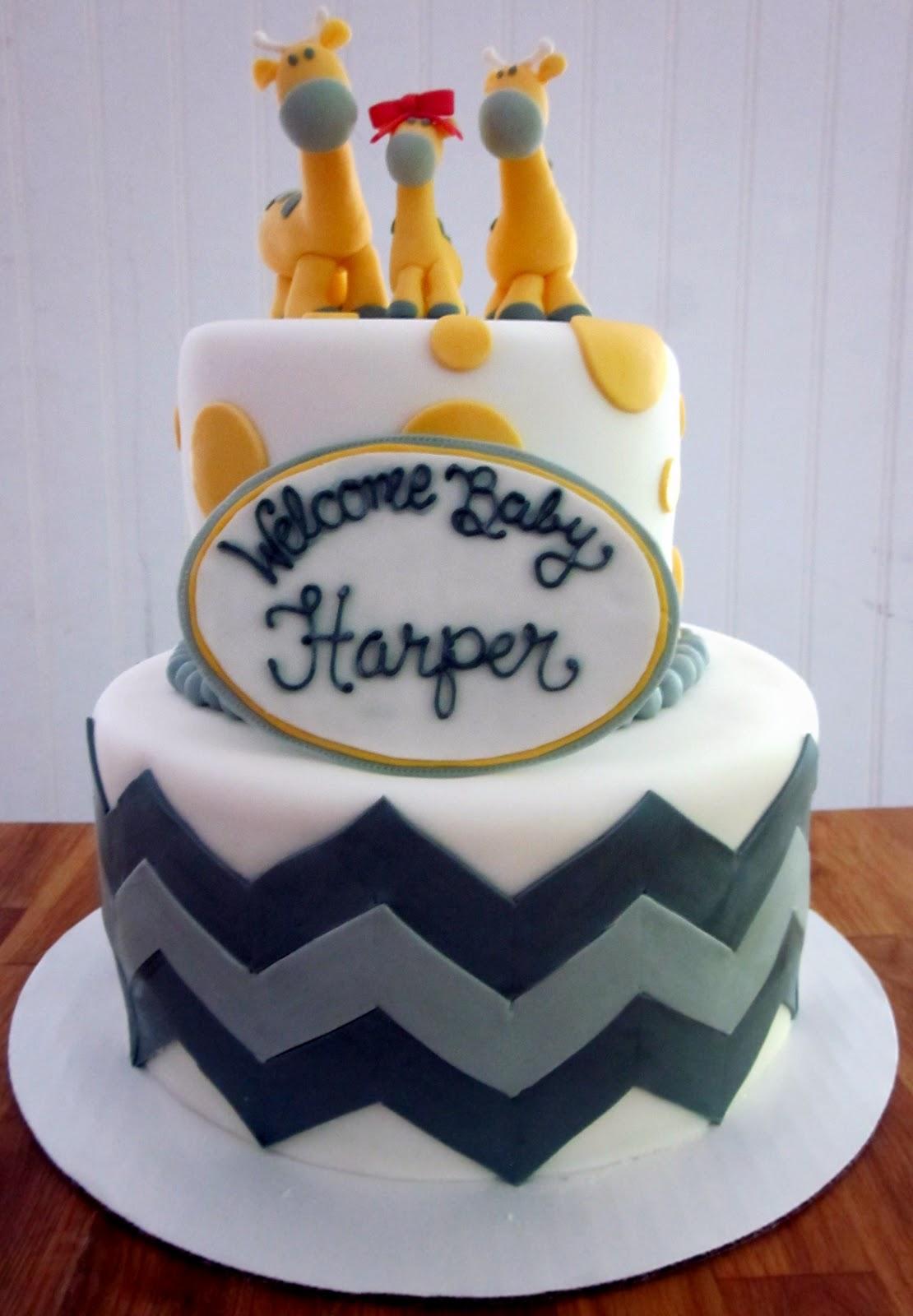 Darlin Designs Giraffe Baby Shower Cake