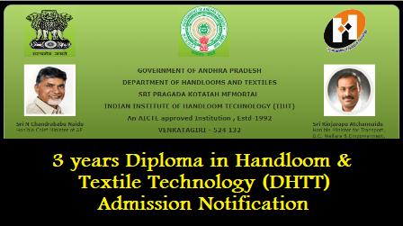 "INDIAN INSTITUTE OF HANDLOOM TECHNOLOGY (IIHT)- 3 years ""Diploma in Handloom & Textile Technology (DHTT)""-Admission Notification /2019/05/INDIAN-INSTITUTE-OF-HANDLOOM-TECHNOLOGY-IIHT-3years-diploma-in-handloom-and-textile-technology-DHTT-Admission-notification-www.iihtvgr.com.html"