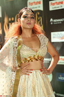 Apoorva Spicy Pics in Cream Deep Neck Choli Ghagra WOW at IIFA Utsavam Awards 2017 87.JPG