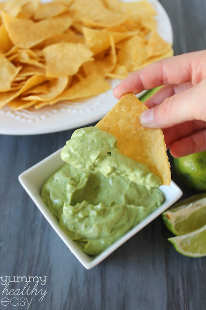 Skinny Creamy Avocado Dip