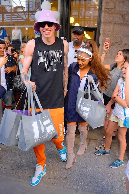 SCUMBRO icon Pete Davidson with then fiancee Ariana Grande. PYGear.com