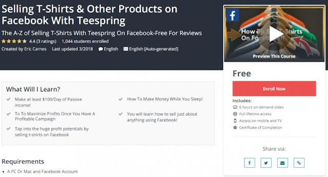 [100% Free] Selling T-Shirts & Other Products on Facebook With Teespring