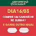 """Subway realiza promoção """"Compre um. Ganhe outro"""" nesta quinta-feira"""