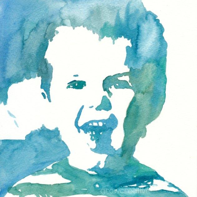 Grow creative blog easy watercolor portrait tutorial for Simple watercolor tutorial