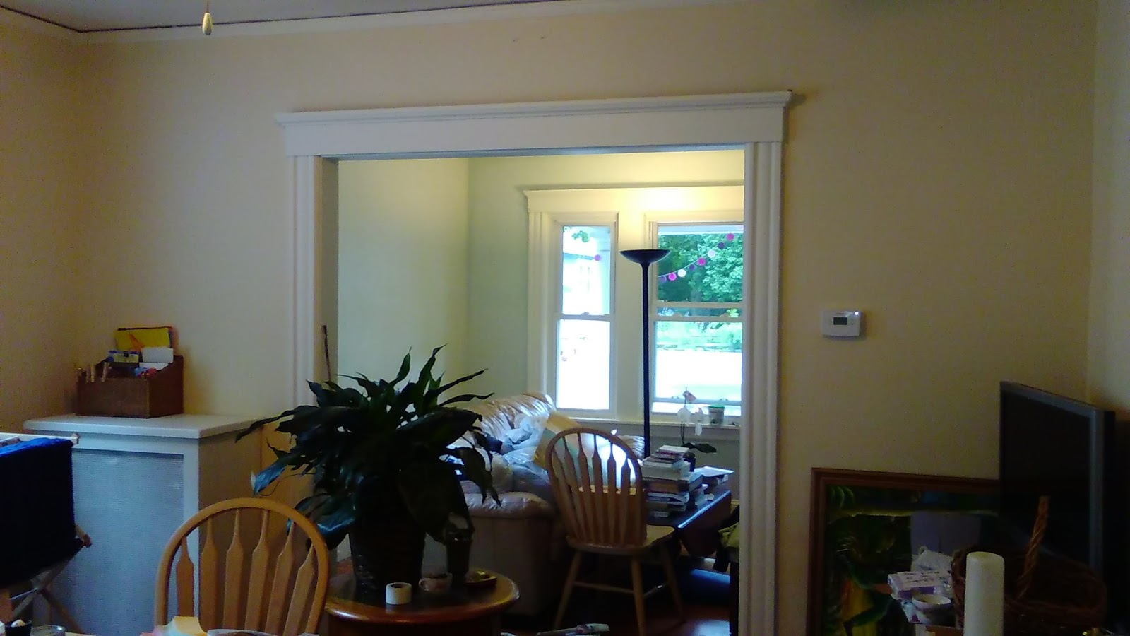 This Dining Room Is A Benjamin Moore Color Winter Wheat With Greek Villa Trim