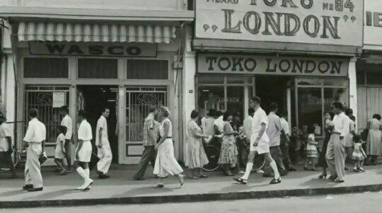 Jalan Pasar Baru, Bandung, selama pendudukan Belanda