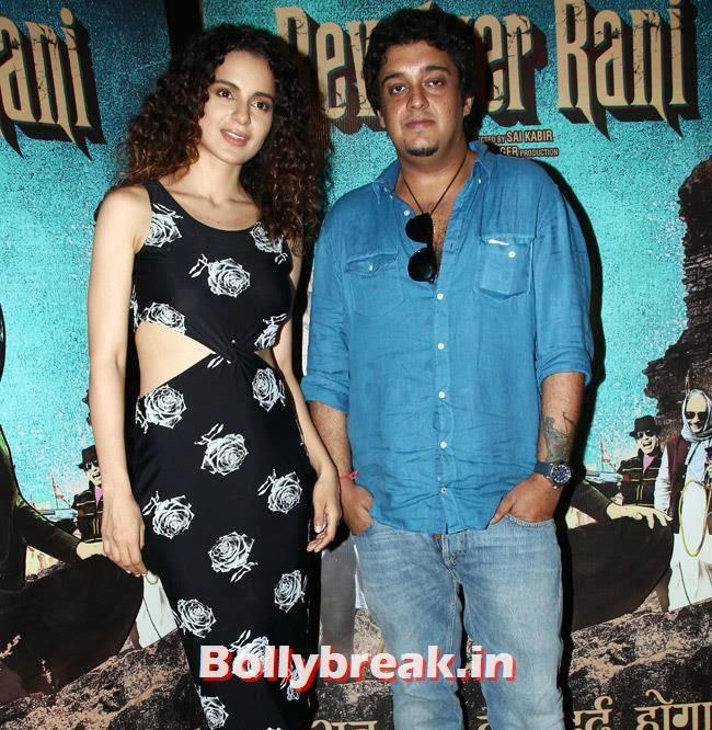 Kangana Ranaut and Sai Kabir Shrivastav, Kangana Ranaut in Black dress promote Revolver Rani
