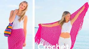 Chal y pareo al crochet / Paso a paso