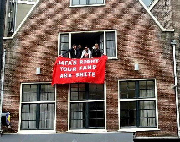 Message from Amsterdam to Chelsea fans