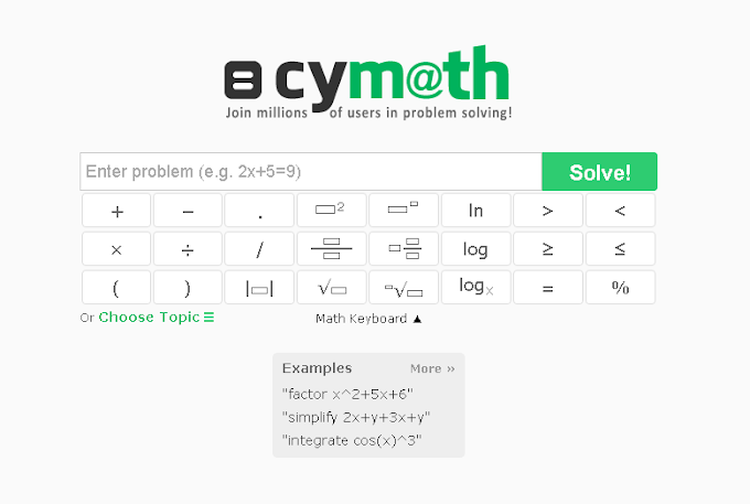 CYMATH : YOUR MATH PROBLEM SOLVED, STEP-BY-STEP