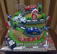 Kue Tart Ulang Tahun Fondant Cars Mobil
