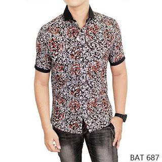 Model Baju Koko Pria Kombinasi Batik