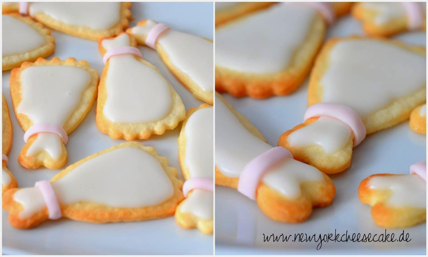 Brautkleid-Kekse, Hochzeit, Sektempfang