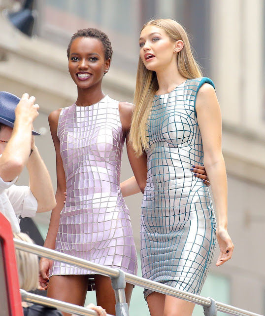 Gigi Hadid – Maybelline Photoshoot Set in New York City