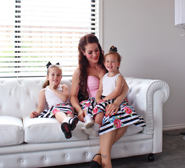Mother Daughter Matching Outfits with Dungaree Dolly / Dolly Valentine