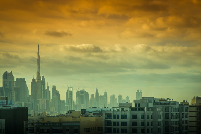 dubai skyline from room melia dubai