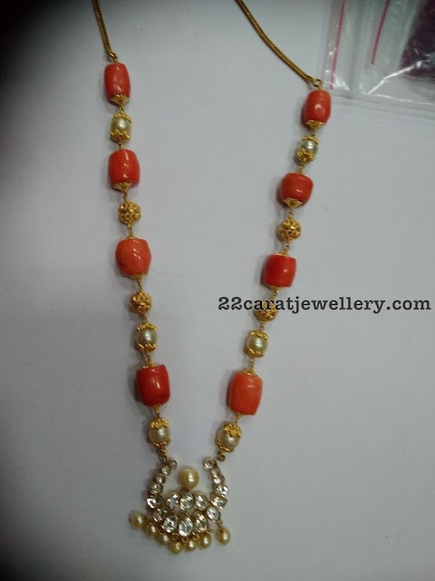 Simple Beads Necklaces with Nakshi Balls