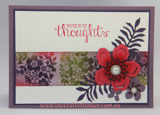 SU, watercolour lifting with heat embossing, Botanical Builder, Bloomin' Love