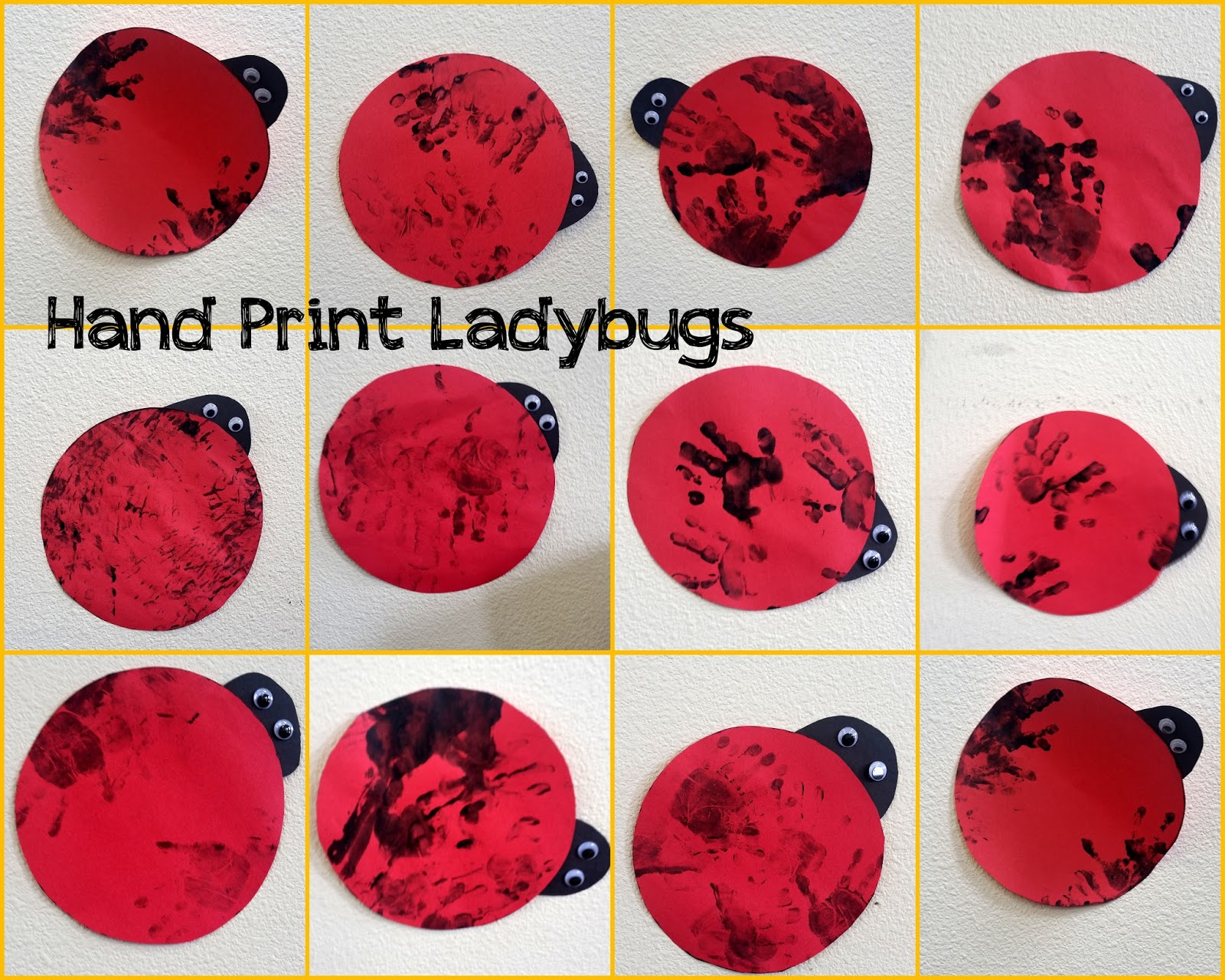 Hand Print Ladybugs Choices For Children